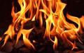 ein brennendes Lagerfeuer