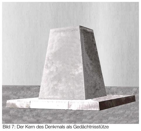 Entwurf eines Denkmals in Pyramidenform.