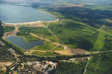 Bild wird vergrößert: Luftaufnahme des Cospudener Sees