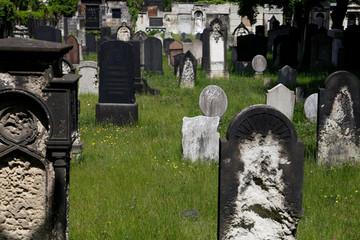 Bild wird vergrößert: Grabstätten auf dem Alten Israelitischen Friedhof