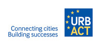URBACT Logo mit Schriftzug connecting cities Building successes