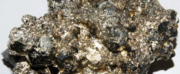 glänzendes Mineral