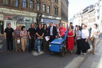 Bild wird vergrößert: OBM Rundgang Georg Schwarz Straße