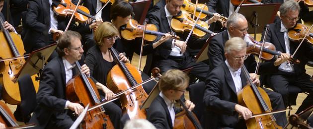 Musiker des Gewandhausorchesters bei einer Vorstellung