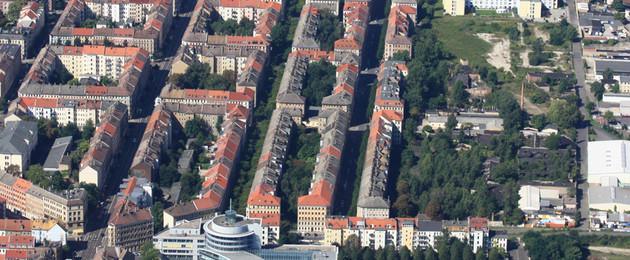 Luftbild Leipziger Osten, Gesamtaufnahme