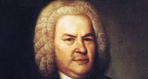 Ölgemälde mit dem Porträt von Johann Sebastian Bach