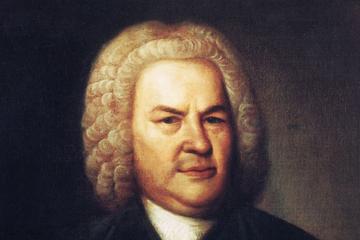 Bild wird vergrößert: Ölgemälde mit dem Porträt von Johann Sebastian Bach