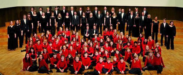 Gruppenbild Gewandhauschor und Gewandhauskinderchor
