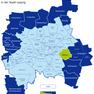 Karte der Leipziger Ortsteile und Ortschaften - Mölkau hervorgehoben