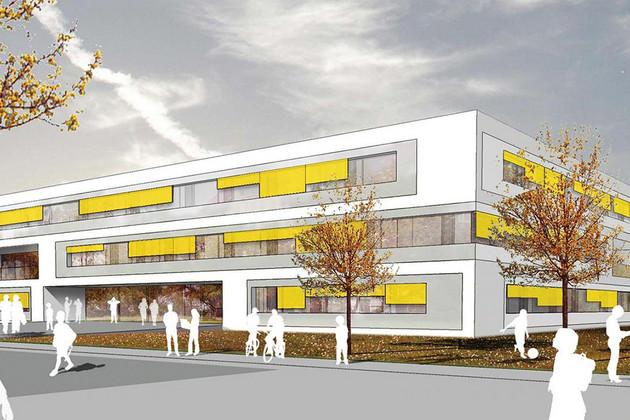 Planungsentwurf der Grundschule, 3. Schule in der Bernhard-Göring-Straße in Leipzig