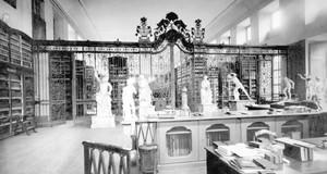 historische Aufnahme der Leipziger Stadtbibliothek um 1895