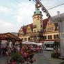 Leipziger Weinfest - Teil der Bühne mit Altem Rathaus im Hintergrund