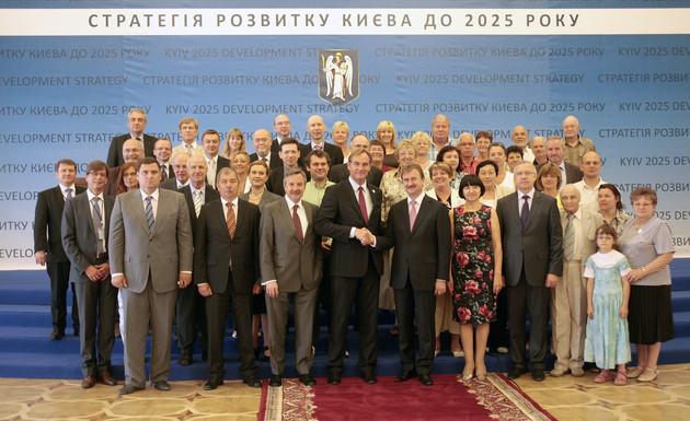 Teilnehmer der Delegationsreise nach Kiew zum 50. Städtepartnerschaftsjubiläum 2011