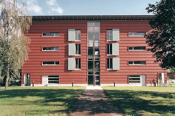 Bild wird vergrößert: Gebäudeansicht Internationales Begegnungszentrum
