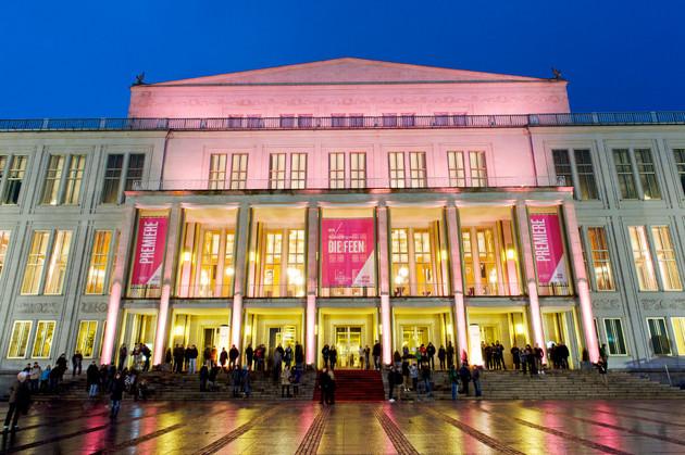 Oper Leipzig Opernhaus Außenansicht