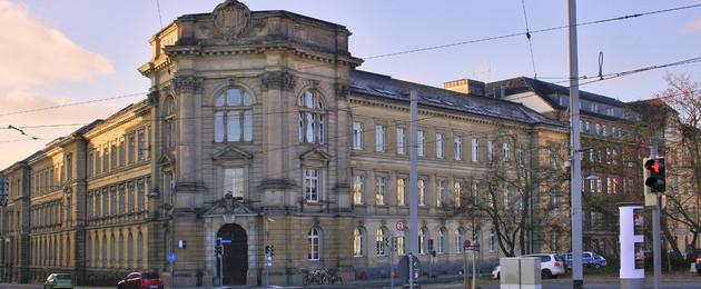 Ansicht der Polizeidirektion Leipzig in der Dimitroffstraße