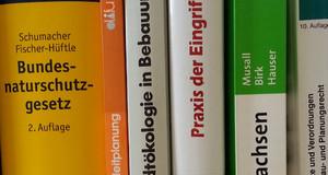 Blick auf Bücher zum Thema Recht