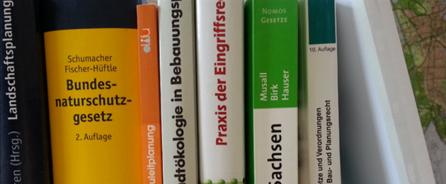 Ein Regal voll mit gesetzesrelevanten Büchern