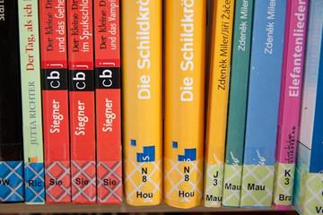 Bild wird vergrößert: Medienaufstellung in der Kinderbibliothek