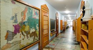Eingangsbereich der Dauerausstellung 1212-1933 des Leipziger Schulmuseums.