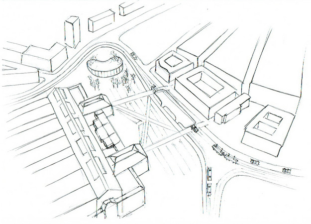 Skizze Bahnhof Vogelperspektive
