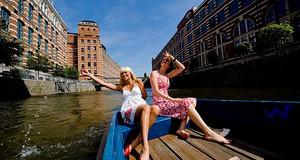 Tour übers Wasser Plagwitz, Bootsausflug