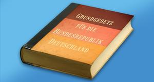 """Buch mit dem Titel """"Das Grundgesetz für die Bundesrepublik Deutschland"""""""