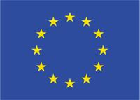 Logo Europäische Union - Blauer Flagge mit Sternenkreis