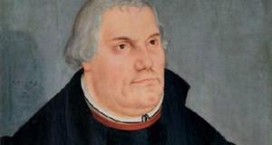 Portrait von Martin Luther aus einem Bild Lucas Cranach dem Jüngeren.