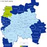 Karte der Leipziger Ortsteile und Ortschaften - Lütschena-Stahmeln hervorgehoben