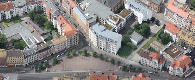 Luftbild Lindenauer Markt
