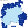 Karte mit den Ortschaften in der Stadt Leipzig mit dem Gebietsstand zum 01.10.2013.