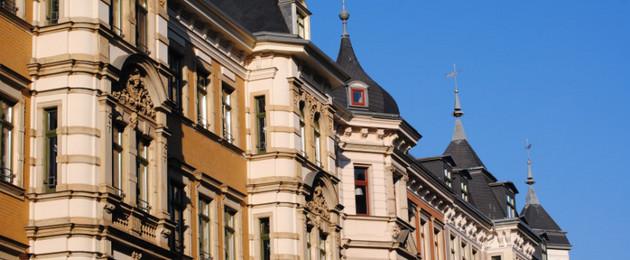 Gründerzeithaus in der Funkenburgstraße im Waldstrassenviertel