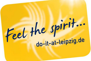 Bild wird vergrößert: Logo mit Text Feel the spirit-do-it-at-leipzig.de