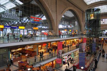 Bild wird vergrößert: Einkaufspromenaden im Hauptbahnhof Leipzig