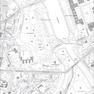 Ausschnitt aus der digitalen Stadtkarte Leipzigs mit grauer Ausgabe und Flurstückskennzeichnung