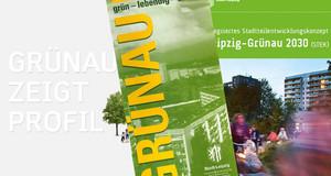 Titel von Faltblättern und Broschüren zum Thema Grünau