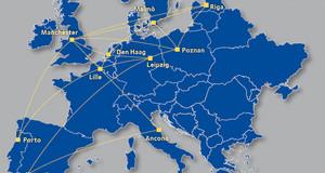 Karte der am Projekt beteiligten Städte