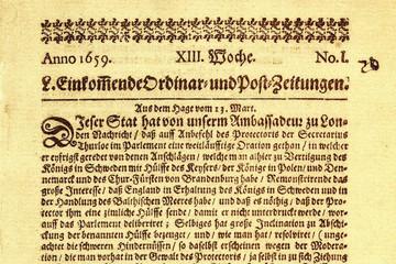 Bild wird vergrößert: Zeitungstext von 1659