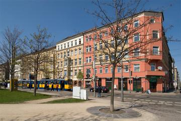 Bild wird vergrößert: Blick vom Rabet in die Eisenbahnstraße