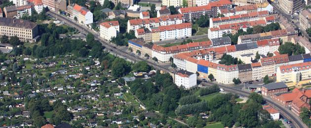Neuschönefeld Luftbild mit Lichtem Hain