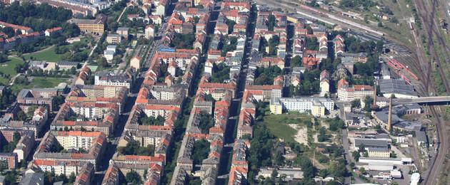 Luftbild Leipziger Osten Gesamtaufnahme
