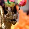 Dekorationselemente zum Chinesischen Frühlingsfest im Neuen Rathaus Leipzig