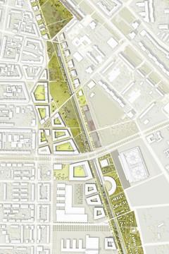 Bild wird vergrößert: Wettbewerbsergebnis für das Gebiet des Stadtraums Bayerischer Bahnhof