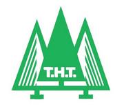 Sponsorenlogo T.H. Thomsen AS mit drei gezeichneten Tannenbäumen