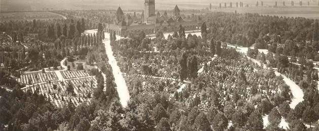 Historische Aufnahme des Südfriedhofes