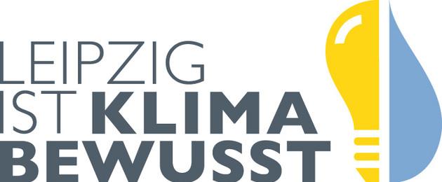 """Schriftzug """"Leipzig ist klimabewusst"""""""