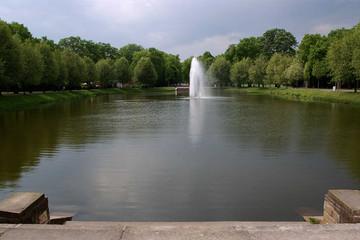 Bild wird vergrößert: Blick auf einen Teich im Clara-Zetkin-Park
