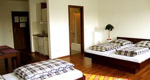 Hostelzimmer mit mehreren Betten im Sleepy Lion Leipzig Hostel