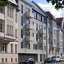 Außenansicht Wohnhaus Gletschersteinstraße in Leipzig